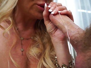 Kelly Madison cannot resist a fellow's huge love tool