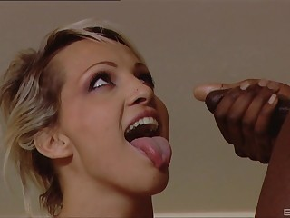 Interracial triplet with cum shots on face be worthwhile for pretty good MILF Dara Lee