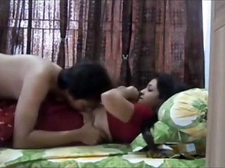Indian two having sultry orgy in their bedroom